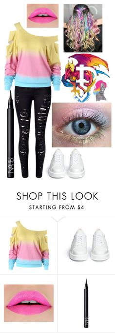 """""""Pansexual Pride"""" by insanityoverhaul ❤ liked on Polyvore featuring Robert Clergerie and NARS Cosmetics"""
