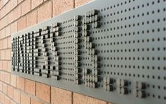 Peg board with moveable pieces to redesign whenever you wish! Environmental Graphic Design, Environmental Graphics, Wayfinding Signage, Signage Design, Office Graphics, Interactive Walls, Sign Board Design, Las Mercedes, Creative Names