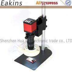 Microscope set HD 13MP HDMI VGA Digital Electronic Microscope Camera+130X C mount lens+56 LED ring Light+stand holder //Price: $112.79//     #shop