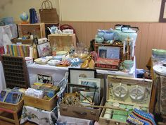 lost property vintage stall at the Olney Vintage Fair