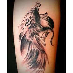 wolf girl tattoo - Google Search                                                                                                                                                                                 More