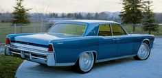 Blue 1962 Lincon Continental