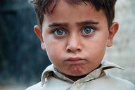 Little boy is Saafiabad Village, Pakistan.