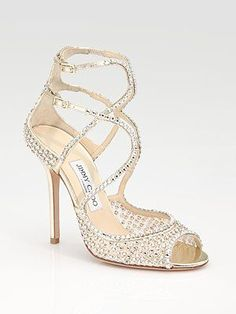 A fa.bu.lous bling strappy wedding shoe ...by Jimmy Choo