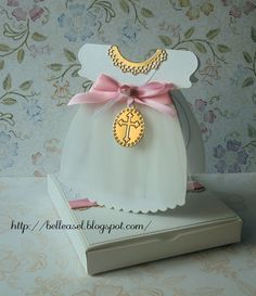 handcrafted baptism invitation, baby girl dress, zaproszenie chrzciny sukienka