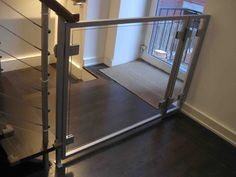 AC Glass Baby Gate | Misc Custom Furniture | Furniture | Product Gallery |  Morgik Metal. Staircase ...
