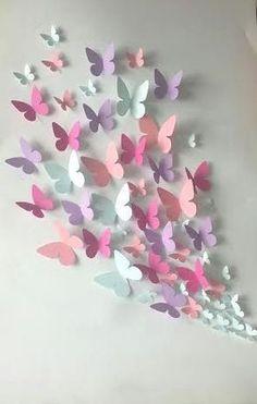 Papier Wand Schmetterling – Wandkunst – Papier Schmetterling von … Paper Wall Butterfly – Wall Art – Paper Butterfly of … Origami Butterfly, Butterfly Wall Art, Paper Butterflies, Butterfly Crafts, Beautiful Butterflies, Diy Butterfly Decorations, Butterfly Mobile, Pink Butterfly, 3d Paper Flowers