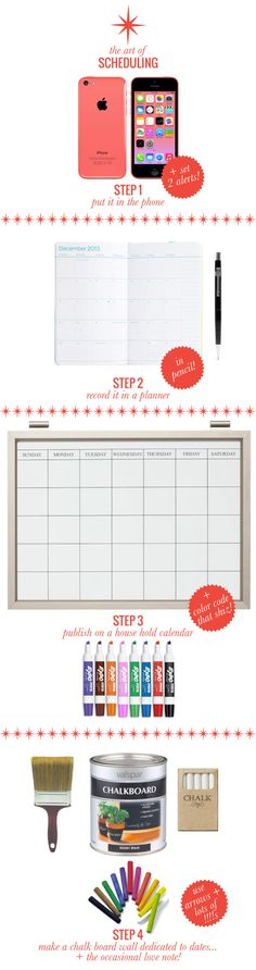 The Art of Scheduling // tips to daily organization via Mrs. Lilien