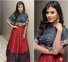 Jayanti reddy # fusion cape style lehenga # Indian fashion # 2016