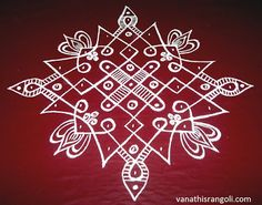 Vanathi's Rangoli,Art/Crafts: 9*1 Simple and Easy Sikku Kolam Design - 3