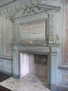 Drayton Hall, SC interior fireplace. Drayton Hall was built for John Drayton and was completed in 1742. It is the only plantation house on the Ashley River to survive the American Revolution and Civil War intact. It's style is Georgian with Palladian influences.
