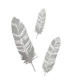 Update your room with our Feather Wall Art Decals. This pack contains 1 sheet of 5 metallic feather decals.