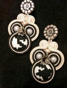 Soutache earrings by KIMA BLACK & WHITE