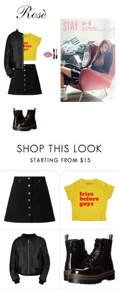 """Rosè ( Blackpink) stay mv"" by melissa-piv ❤ liked on Polyvore featuring Miss Selfridge, Boohoo, Dr. Martens, Lime Crime, Max Factor, kpop and BlackPink"
