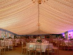 Ivory Starlight Ceiling in a frame marquee.