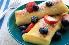 These cheese blintzes rival those at any deli—they're really that good! The filling is not too sweet, making them a perfect breakfast treat.