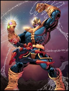 Thanos VS Spidey by Furlani on DeviantArt