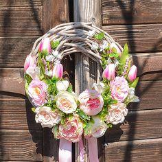 Hydrangea / Romantický veniec Floral Wreath, Wreaths, Home Decor, Decoration Home, Room Decor, Bouquet, Flower Band, Interior Decorating, Floral Arrangements