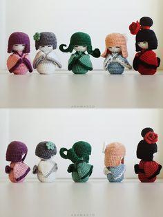 Crochet kokeshi by AdamaSto.deviantart.com on @deviantART