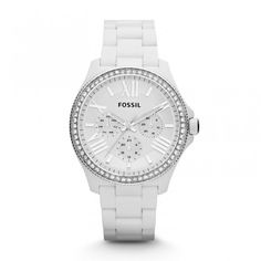 Ceas Fossil AM4494 Cecile Multifunction Resin- White | Boutique Brasov