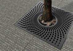 Tree grilles designed and made through HUB Street Equipment for clients in Qatar.