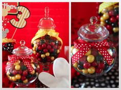 """Minnie Mouse Party Ideas Red And Black """"molly"""" decorations and"""