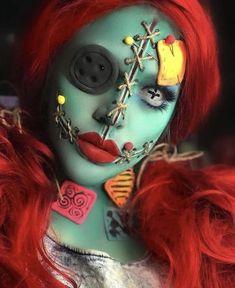12 Make-up-Ideen für Halloween - Halloween Costumes / Make Up - halloween makeup Scary Makeup, Sfx Makeup, Costume Makeup, Zombie Makeup, Last Halloween, Halloween Makeup Looks, Halloween Make Up Scary, Zombie Halloween Costumes, Fantasias Halloween