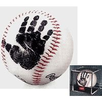 """REALLY CUTE Fathers day present! - """"First Pitch™"""" Autographed Baseball - Baby's First Handprint"""
