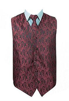 ab5d0fb30ad5 Paisley Vest Set,Vest,Necktie, Bow-Tie, Handkerchief Set ** Read more at  the image link. Men's Suits