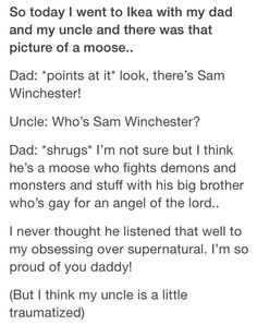Supernatural, yes...just yes