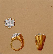 A diamond ring designed by Lorenzo Homar for Cartier, in the 1940's