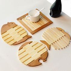 4Pcs Free fish wool mat placemat pot holder disc pads heat insulation pad bowl pad(China (Mainland))