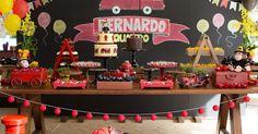 Bella Fiore Decoração de Eventos: Decoração de Festa Infantil - Bombeiro