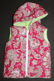 Make a child's hooded vest. Tutorial by 2 Little Hooligans.