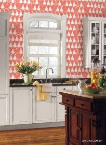 Found It At AllModern   York Wallcoverings Bistro 750 Kitchen Pears  Prepasted Wallpaper
