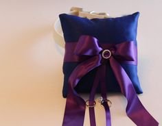 Royal Blue Purple Ring Pillow