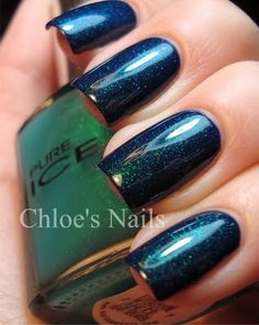 Pure Ice Heartbreaker over China Glaze Calypso Blue