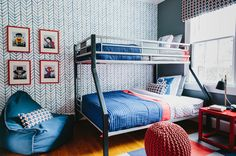 DIY Pattern i could totally do on one wall, solid colors on the other 3 walls