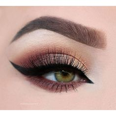 Brown cat eye #eyes #eye #makeup