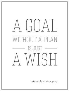 This reminds me to stay focused. If I make a plan and stick to it I can achieve anything.