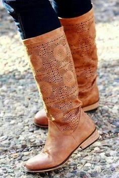 Boho chic's BohLadies brown long shoes