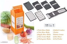 Graters Unique Trendy Kitchen Tool Material: Plastic  Size: Free Size  Description: It Has 1 Piece Of 10 in 1 Vegetable Slicer Sizes Available: Free Size *Proof of Safe Delivery! Click to know on Safety Standards of Delivery Partners- https://ltl.sh/y_nZrAV3  Catalog Rating: ★4 (689)  Catalog Name: Unique Trendy Kitchen Tools Vol 2 CatalogID_732052 C135-SC1645 Code: 982-4990914-