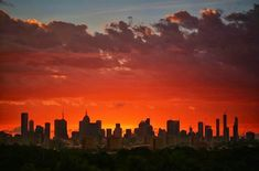 Sunset and The Melbourne skyline
