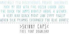 free font download: skinny caps