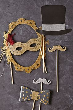 Debonnaire Party Masks #anthropologie  PHOTO BOOTH PROPS