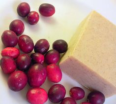 Handmade Soap Bar  Cranberry Fig  VEGAN Castile Soap  by PuurBody