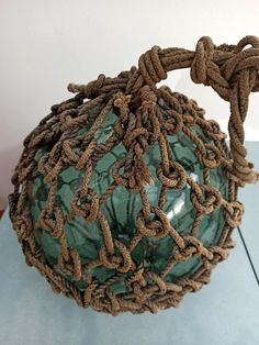 Ancienne boule flotteur en verre soufflé vintage