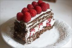 Chocolate Raspberry Amaretto Icebox Cake