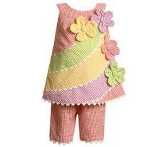 NWT Girl 18 Month Bonnie Jean Baby Seersucker Gingham Floral Pastels Pant Set  #BonnieJeanBonnieBaby #Everyday