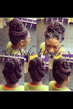 African hair braiding big braids hair updo thick and thin goddess braids updo goddessbraids boxbraidsupdo goddessbraided goddess braided boxbraidsupdo braided braids goddess goddessbraided goddessbraids thick thin updo Side Braid Hairstyles, Braided Hairstyles For Black Women, African Braids Hairstyles, Braids For Black Hair, Hair Updo, Black Hairstyles, Hairstyle Ideas, Bangs Hairstyle, Bun Updo